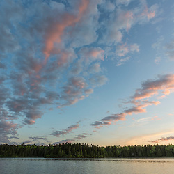 Clouds above Long Pond in Maine's north woods. Near the Appalachian Trail and the Appalachian Mountain Club's Gorman Chairback Lodge.