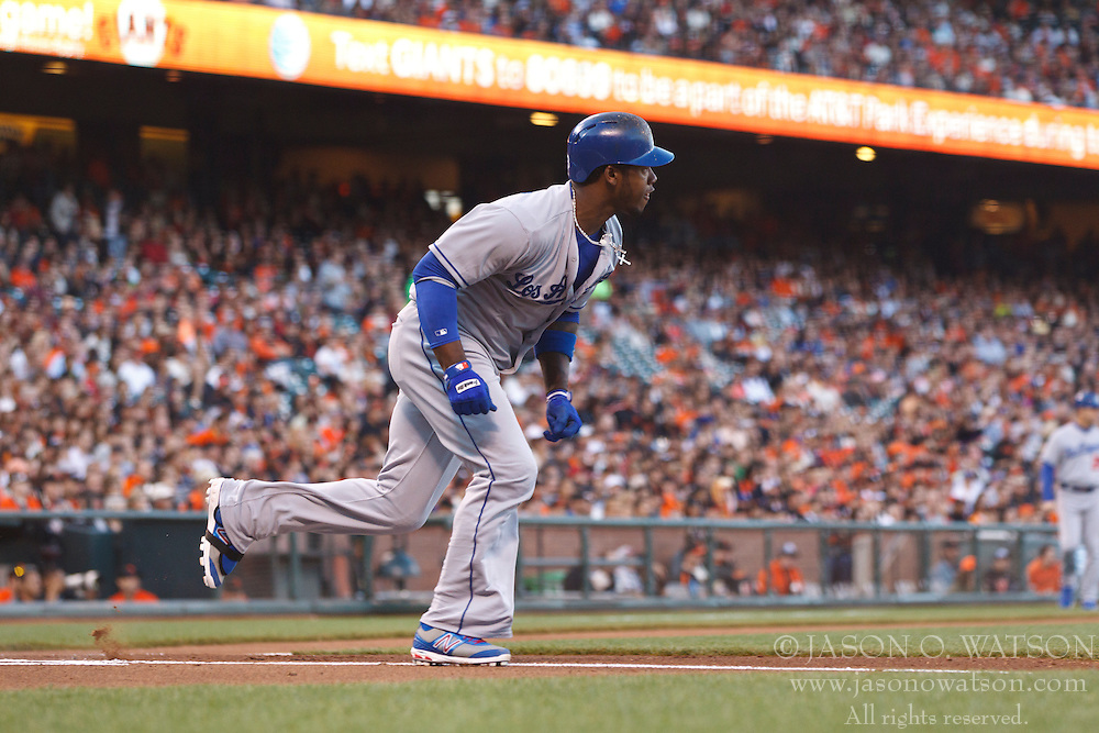 SAN FRANCISCO, CA - MAY 03: Hanley Ramirez #13 of the Los Angeles Dodgers at bat against the San Francisco Giants during the first inning at AT&T Park on May 3, 2013 in San Francisco, California. The San Francisco Giants defeated the Los Angeles Dodgers 2-1. (Photo by Jason O. Watson/Getty Images) *** Local Caption *** Hanley Ramirez