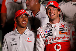 Motorsports / Formula 1: World Championship 2010, GP of Abu Dhabi, 02 Lewis Hamilton (GBR, Vodafone McLaren Mercedes), 01 Jenson Button (GBR, Vodafone McLaren Mercedes),