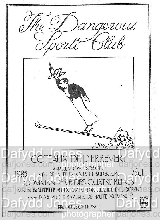 DSC wine label, DSC Archive. Do Not use without permission.  Dafydd Jones 66 Stockwell Park Rd. London SW9 0DA Tel 020 7733 0108 www.dafjones.com