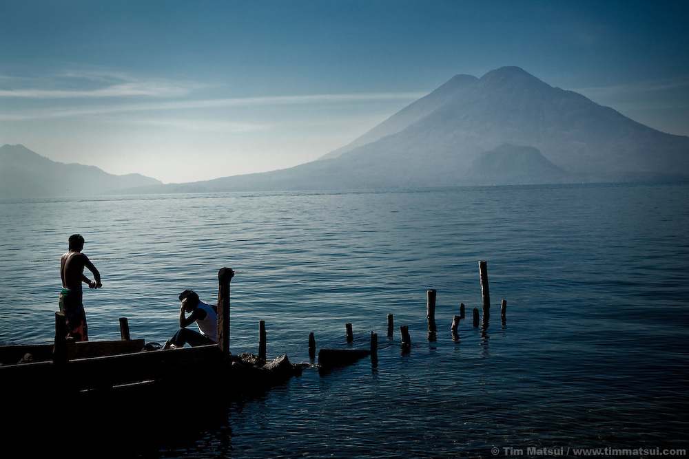 On the shore of Lake Atitlan, Panajachel, Guatemala.<br /> <br /> Image available through Getty Images, Master ID: 103427951<br /> <br /> Or copy this link:<br /> http://bit.ly/dZt4I1