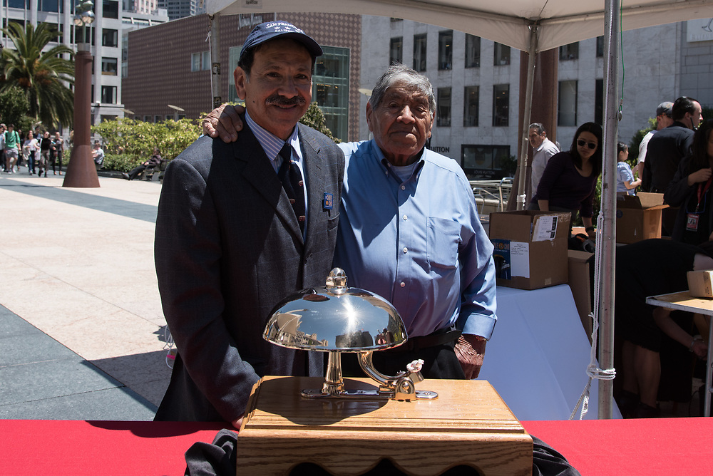 Gilberto and Jose Godoy, Makers of the Cable Car Trophy Bell at 54th Annual Cable Car Bell Ringing Contest | July 13, 2017