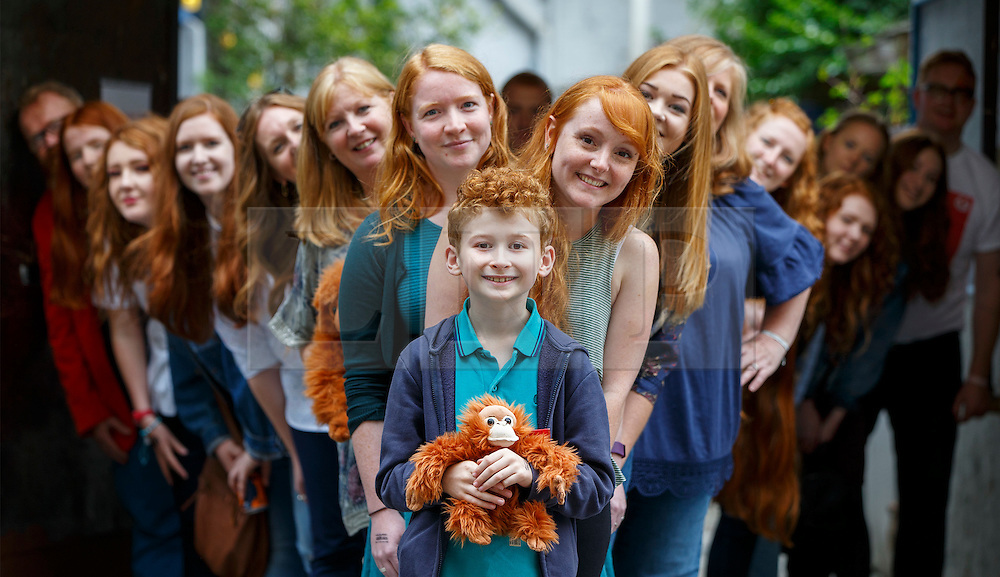 © Licensed to London News Pictures. 17/09/2016. London, UK. Hundreds of redheads attend Redhead Day UK event in Angel, London on Saturday, 17 September 2016. Natural redhead visitors get chance to celebrate their ginger genes and shop specialised products, see ginger related exhibitions and live performances. Photo credit: Tolga Akmen/LNP