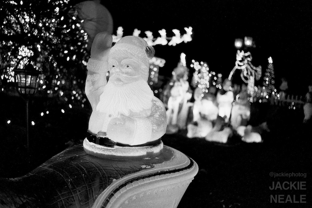 Christmas lights on Deer Rd. in Cherry Hill, NJ - Christmas 2008.  The main house on this Christmas Winter Wonderland is owned by Junior.  A friendly neighbor that I have known since childhood.