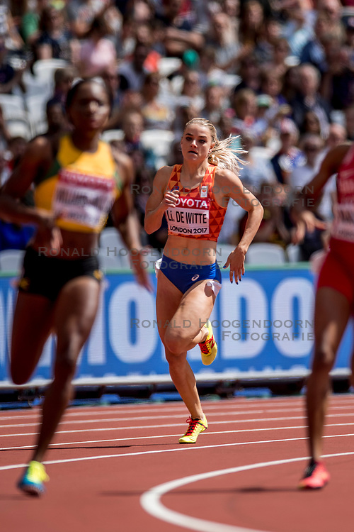 06-08-2017 IAAF World Championships Athletics day 3, London<br /> Lisanne de Witte NED 400m