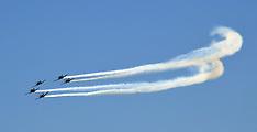 Wellington-RNZAF Black Falcons fly pass over capital