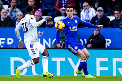 Ben Chilwell of Leicester City takes on Junior Hoilett of Cardiff City - Mandatory by-line: Robbie Stephenson/JMP - 29/12/2018 - FOOTBALL - King Power Stadium - Leicester, England - Leicester City v Cardiff City - Premier League