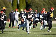 CINCINNATI, OH - DECEMBER 17: Cincinnati Bengals players work out on the practice fields on December 17, 2015 in Cincinnati, Ohio. (Photo by Joe Robbins)