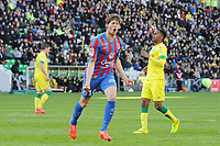 Fotball<br /> Frankrike<br /> 05.04.2015<br /> Foto: Panoramic/Digitalsport<br /> NORWAY ONLY<br /> <br /> joie Emiliano Sala apres son but (Caen)<br /> <br /> Nantes vs Caen - Ligue 1