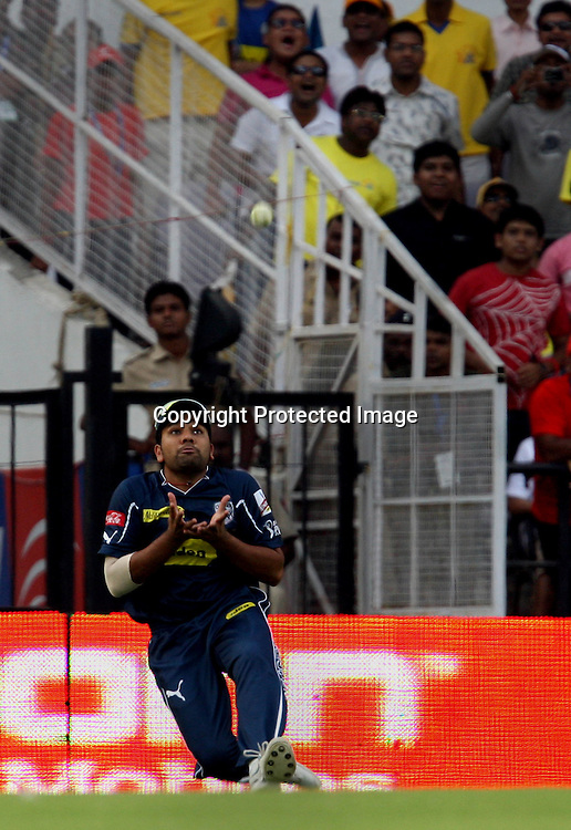 Deccan Chargers Player Rohit Sharma Taken Chennai Super Kings Batsman SUresh Raina Catch During The Indian Premier League - 42nd match Twenty20 match  2009/10 season Played at Vidarbha Cricket Association Stadium, Jamtha, Nagpur 10 April 2010 - day/night (20-over match)