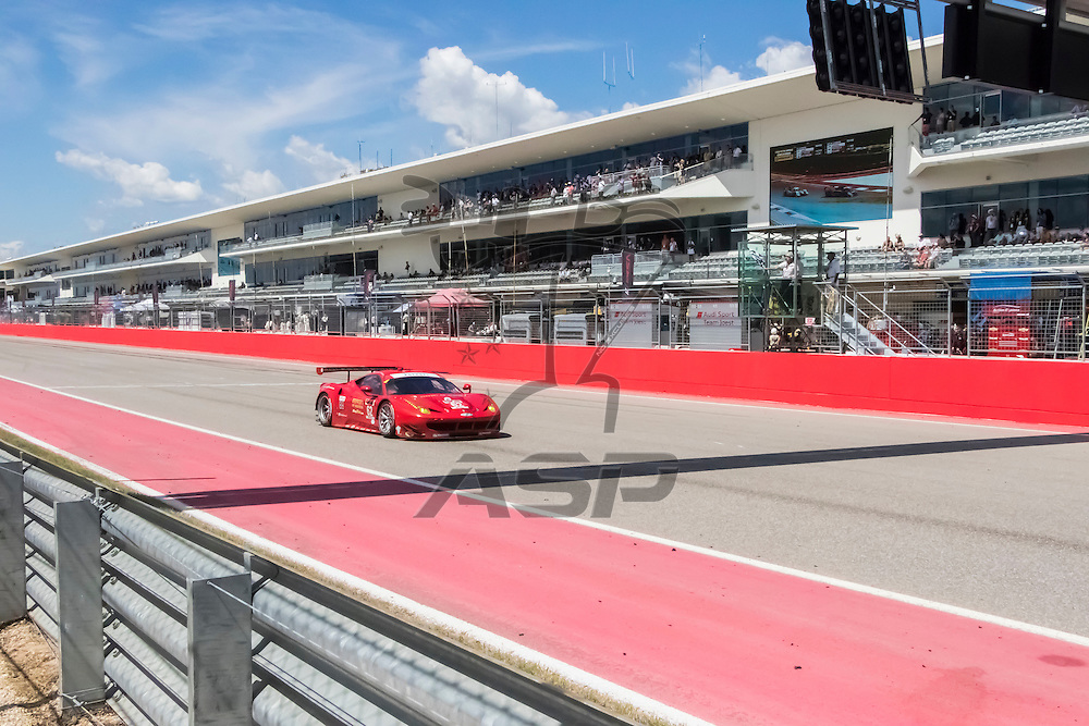 Austin, TX - Sep 19, 2015:  The Tudor United Sportscar Championship teams take to the track to for the Lone Star Le Mans at Circuit of the Americas in Austin, TX.