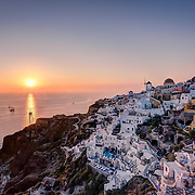 Named as one of the best sunset locations in the world, sitting on the ruins of a castle watching tall ships sail into the sunset, it's easy to see why Oia is such a popular destination
