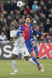 November 22, 2017 - Basel, Switzerland - ROMELU LUKAKU, left, of Manchester United battles with RAOUL PETRETTA of Basel during UEFA Champions League action. (Credit Image: © Daniel Teuscher/EQ Images via ZUMA Press)