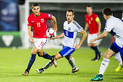 October 5, 2017 - San Marino, SAN MARINO - 171005 Mohamed Elyounoussi of Norway and Cristian Broil of San Marino during the FIFA World Cup Qualifier match between San Marino and Norway on October 5, 2017 in San Marino. .Photo: Fredrik Varfjell / BILDBYRÃ…N / kod FV / 150027 (Credit Image: © Fredrik Varfjell/Bildbyran via ZUMA Wire)