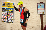 "2016 Ironman 70.3 Santa Cruz ""Big Kahuna"" triathlon, Depot Park, Santa Cruz, California."