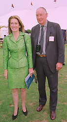 MRS SUSAN BARRANTES mother of Sarah, Duchess of York and her brother MAJOR BRIAN WRIGHT, at a polo match in Berkshire on 26th July 1998.MJG 135