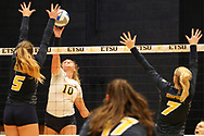 October 31, 2018 - Johnson City, Tennessee - Brooks Gym: ETSU outside hitter AJ Lux (10)<br /> <br /> Image Credit: Dakota Hamilton/ETSU