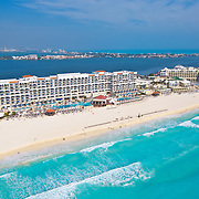 Aerial View of Real Resorts hotels.<br />