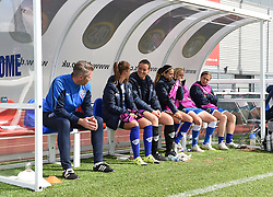 The Bristol Academy bench, prior to kick-off against Liverpool Ladies - Mandatory by-line: Paul Knight/JMP - Mobile: 07966 386802 - 13/09/2015 -  FOOTBALL - Stoke Gifford Stadium - Bristol, England -  Bristol Academy Women v Liverpool Ladies FC - FA WSL Continental Tyres Cup
