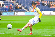 Pablo Hernandez of Leeds United (19) warming up during the EFL Sky Bet Championship match between Preston North End and Leeds United at Deepdale, Preston, England on 9 April 2019.