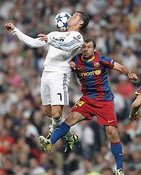 27-04-2011 VOETBAL: SEMI FINAL CL REAL MADRID - FC BARCELONA: MADRID<br /> Cristiano Ronaldo and Javier Mascherano <br /> *** NETHERLANDS ONLY***<br /> ©2011-FH.nl-EXPA/ Alterphotos/ ALFAQUI / Cesar Cebolla