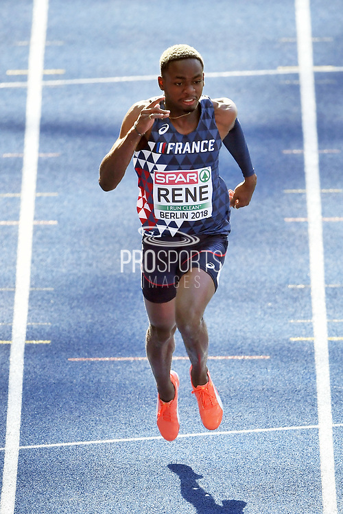 Marvin Rene competes in men 100m during the European Championships 2018, at Olympic Stadium in Berlin, Germany, Day 0, on August 6, 2018 - Photo Philippe Millereau / KMSP / ProSportsImages / DPPI