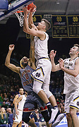 SOUTH BEND, IN - JANUARY 12: Ky Bowman #0 of the Boston College Eagles and Nate Laszewski #14 of the Notre Dame Fighting Irish battle for the ball at Purcell Pavilion on January 12, 2019 in South Bend, Indiana. (Photo by Michael Hickey/Getty Images) *** Local Caption *** Ky Bowman; Nate Laszewski