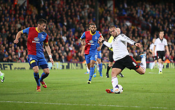Fulham's Pajtim Kasami shoots - Photo mandatory by-line: Robin White/JMP - Tel: Mobile: 07966 386802 21/10/2013 - SPORT - FOOTBALL - Selhurst Park - London - Crystal Palace V Fulham - Barclays Premier League