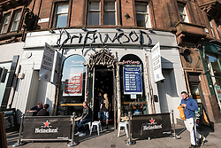 Driftwood pub exterior on Sauchiehall Sreet in Glasgow United Kingdom