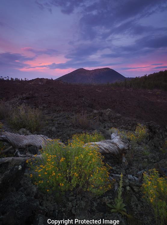 Sunset Crater, sunset, Flagstaff, AZ