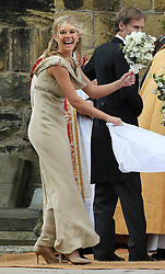 Bridesmaid Chelsy Davy at the Lady Melissa Percy and Thomas van Straubenzee wedding at St.Michaels Church, Alnwick, Northumberland after their wedding ,Saturday, 22nd June 2013<br /> Picture by:  Stephen Lock / i-ImagesBridesmaid Chelsy Davy (left) at the Lady Melissa Percy and Thomas van Straubenzee wedding at St.Michaels Church, Alnwick, Northumberland after their wedding ,Saturday, 22nd June 2013<br /> Picture by:  Stephen Lock / i-Images