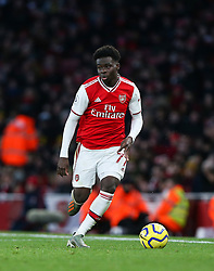 Bukayo Saka of Arsenal  on the ball - Mandatory by-line: Arron Gent/JMP - 18/01/2020 - FOOTBALL - Emirates Stadium - London, England - Arsenal v Sheffield United - Premier League