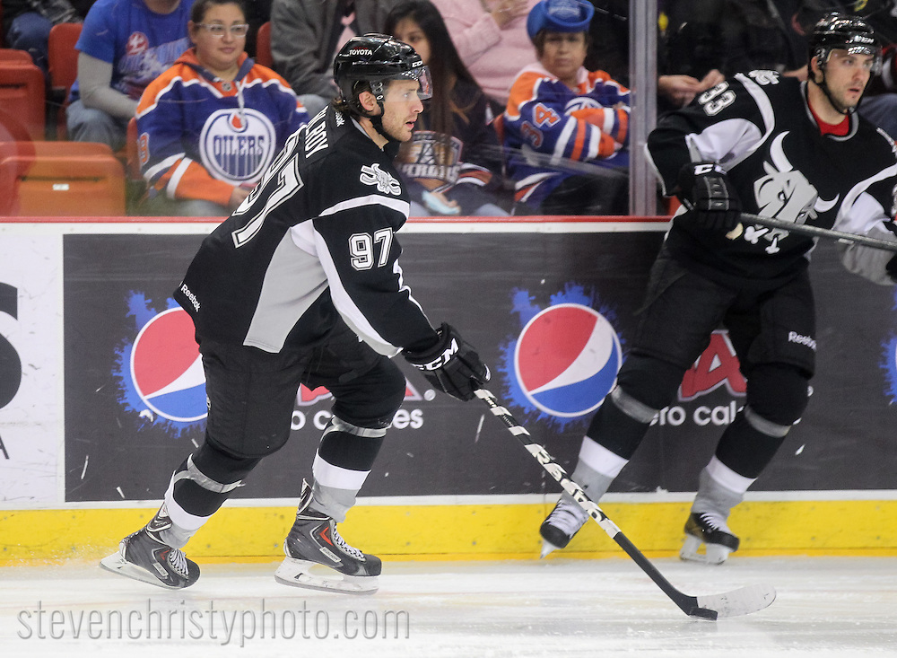 January 4, 2014: The Oklahoma City Barons play the San Antonio Rampage in an American Hockey League game at the Cox Convention Center in Oklahoma City.
