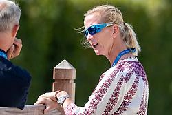 SAYN-WITTGENSTEIN Nathalie Prinzessin zu (Nationaltrainer DEN)<br /> Aachen - CHIO 2018<br /> Deutsche Bank Preis <br /> Grand Prix Kür CDIO<br /> 22. Juli 2018<br /> © www.sportfotos-lafrentz.de/Stefan Lafrentz