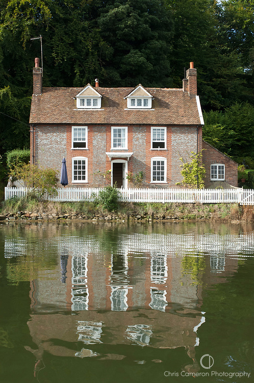 Brick house close to the Jolly Sailor Pub on the River Hamble. United Kingdom..