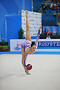 Neta Rivkin during qualifying at ball in Pesaro World Cup at Adriatic Arena on 26 April 2013. Neta was born on June 23, 1991 in Petah Tiqwa Israel. <br />