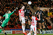 Marko Maroši of Doncaster Rovers punches a corner away during the EFL Sky Bet League 1 match between Doncaster Rovers and Barnsley at the Keepmoat Stadium, Doncaster, England on 15 March 2019.