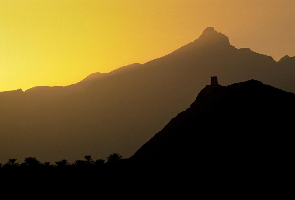 Landscape in Oman, Middle East
