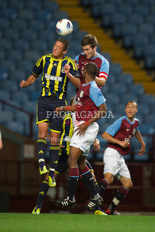 BIRMINGHAM, ENGLAND - Wednesday, September 28, 2011: Aston Villa's captain Gary Gardner in action against Fenerbahce SK during the NextGen Series Group 3 match at Villa Park. (Pic by David Rawcliffe/Propaganda)