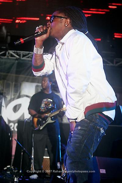 Lil' Wayne performing at Giant's Stadium in East Rutherford New Jersey on June 3, 2007 during Hot 97's Summerjam 2007...© Rahav Segev/ Retna ltd.