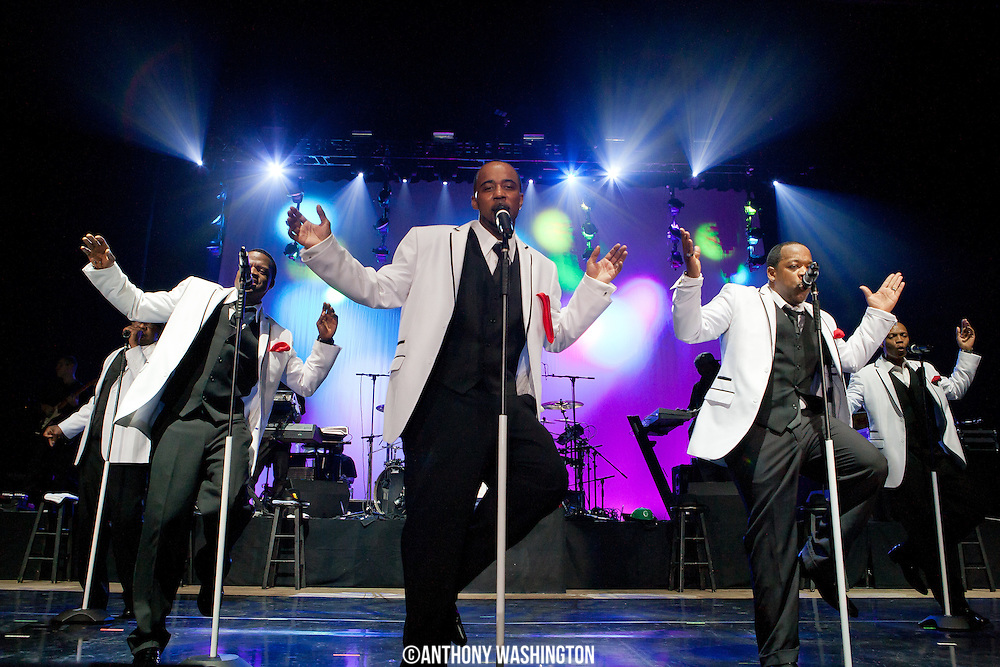 New Edition performs during their 30th Anniversary Reunion Tour at the 1st Mariner Arena in Baltimore, MD on Sunday, May 20, 2012.