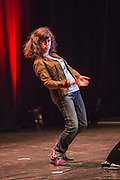 Joanna Neary, actor and comedian performing at the #KeepCorbyn, part of the #JC4PM tour a fringe event orgainised as part of the TUC 2016 by PCS. Brighton, UK.