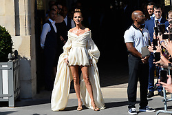 Celine Dion leaving her hotel to Alexandre Vauthier fashion show during Haute Couture Fall/Winter 2019-2020 in Paris on July 02, 2019. Photo by ABACAPRESS.COM