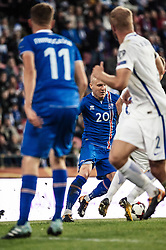 September 2, 2017 - Tampere, Finland - Iceland's Emil Hallfredsson during the FIFA World Cup 2018 Group I football qualification match between Finland and Iceland in Tampere, Finland, on September 2, 2017. (Credit Image: © Antti Yrjonen/NurPhoto via ZUMA Press)