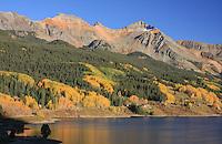 Trout Lake below 13,894 ft. Vermillion Peak of the San Juan Mountains. Colorado, USA.