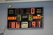 UK - Tuesday, Nov 18 2008:  The score board shows that Erks beat Sledgehammers 91 - 86. Images from Barking and Dagenham Erkenwald Basketball Club's Essex Basketball League game against Brightlingsea Sledgehammers. (Photo by Peter Horrell / http://www.peterhorrell.com)