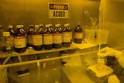 Belo Horizonte_MG, Brasil...Laboratorio de producao de chip magnetico no Instituto de Ciencias Exatas(ICEX) da UFMG, na foto acidos...The Laboratory production of magnectic chip in Instituto de Ciencias Exatas(ICEX) of UFMG, in this photo acids...Foto: VICTOR SCHWANER /  NITRO