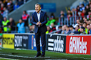 Slovakia Manager Pavel Hapel during the UEFA European 2020 Qualifier match between Wales and Slovakia at the Cardiff City Stadium, Cardiff, Wales on 24 March 2019.