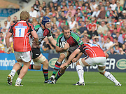 Twickenham, GREAT BRITAIN,  Harlequins', Lewis STEVENSON on the attach during the Guinness Premiership match, Harlequins vs Saracens, at the Twickenham Stoop Stadium, Surrey on Sat. 19.09.2009.  [Photo. Peter Spurrier/Intersport-images]