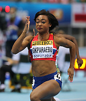 Friidrett , 8. mars 2014 , Athletics Halls World Cup Sopot 2014 IAAF World Indoor Championships Sopot 2014 07 03 09 03 2014 Ergo Arena Sopot Ezinne Okparaebo Norway 60m Women<br />